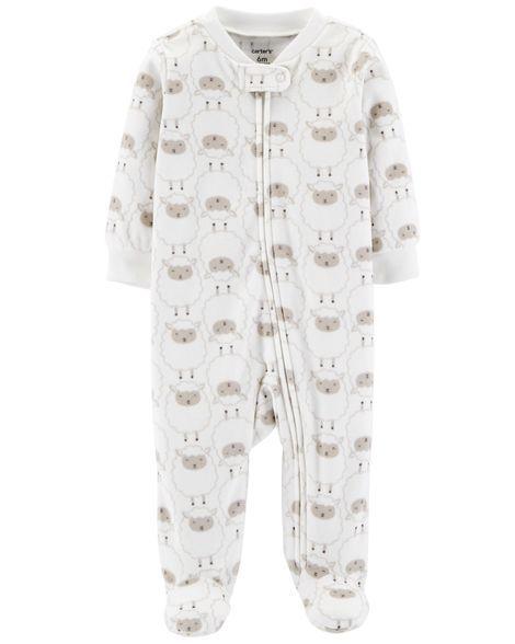 1523442f3179 Lamb Zip-Up Fleece Sleep   Play
