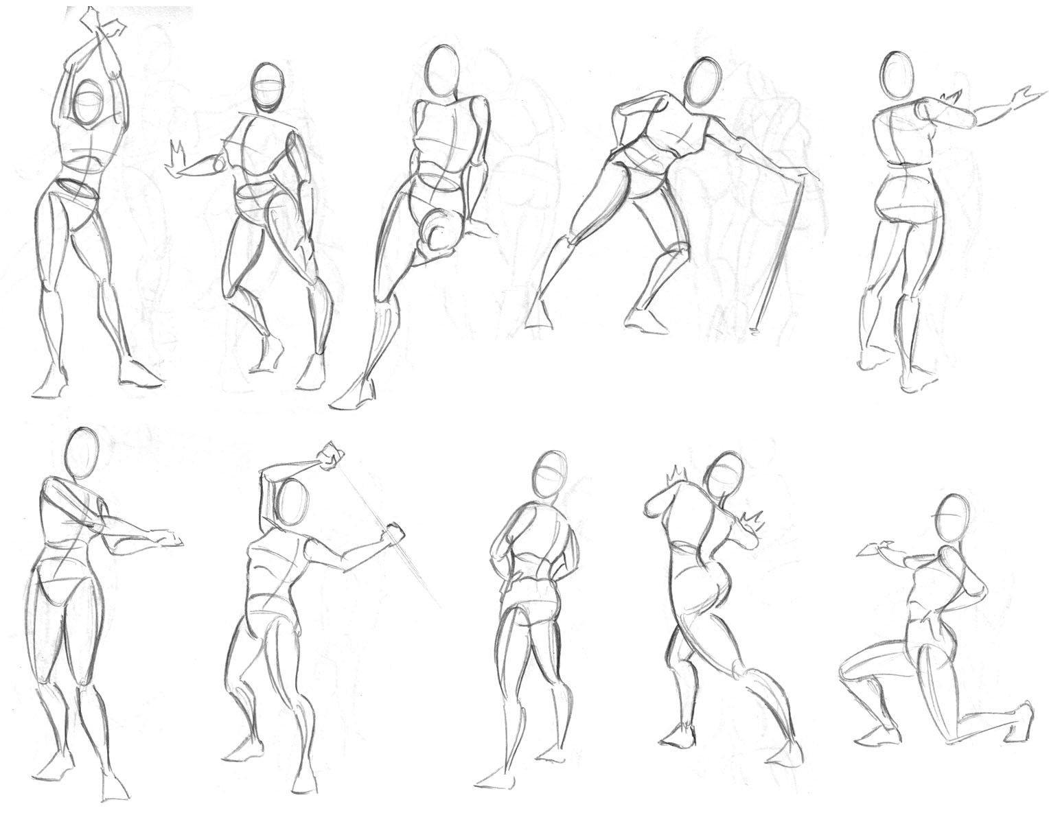 Olympic Figure Drawings