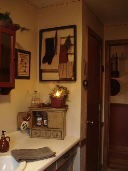 Primitive Bathroom #Primitivecountrydecorating | Primitive ...