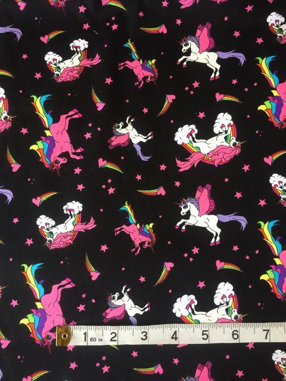 Unicorns 100/% cotton fabric