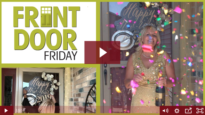 New Year's Eve Front Door Decorating [Video | Front door ...