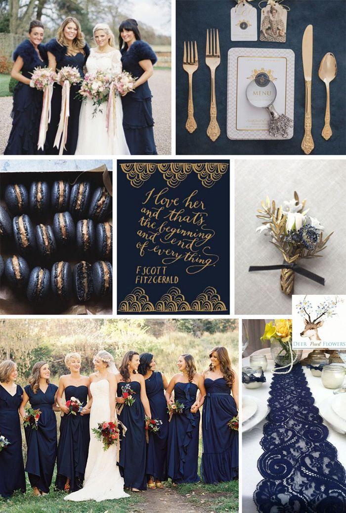 Reflecting Pond Dark Navy Wedding Colors