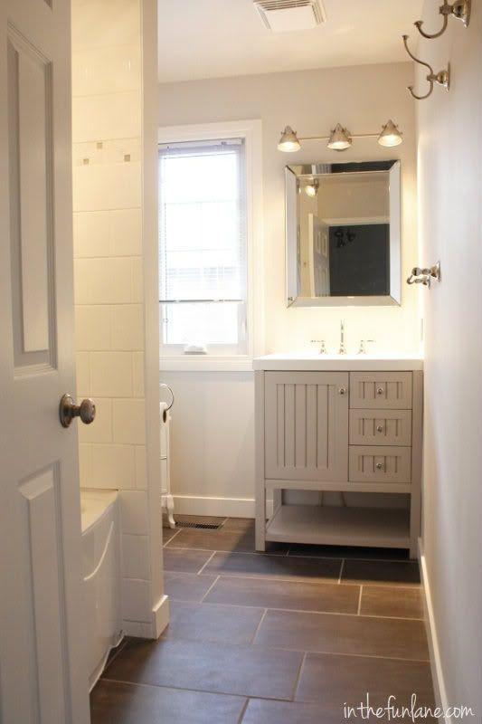 Light Grey Home Depot Vanity Dark Grey 12x24 Tile