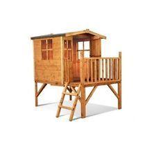 Childrens Wooden Tower Playhouse Outdoor Children Play Kids Treehouse Garden Toy