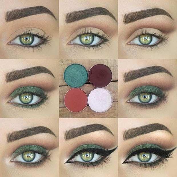31 Pretty Eye Makeup Looks For Green Eyes Beauty Pinterest
