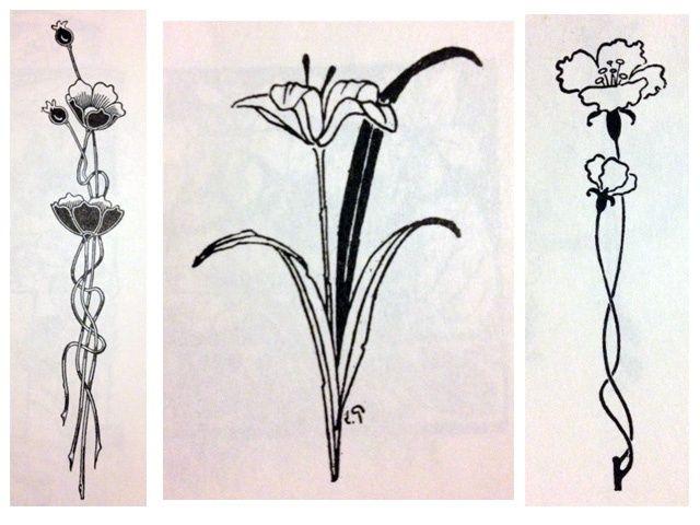 Art Nouveau Flowers Tattoo Ideas Pinterest Art Nouveau Flowers Art Deco Tattoo Art Nouveau Tattoo