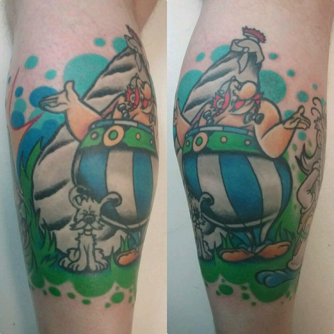 Obélix idéfix tattoo #obelix #obelixtattoo #cartoon #cartoontattoo #idéfix #idefix