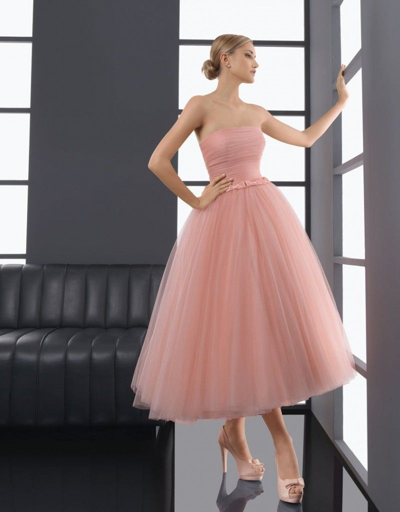 Dusty rose tulle Aire Barcelona bridesmaid dress. | Dresses ...