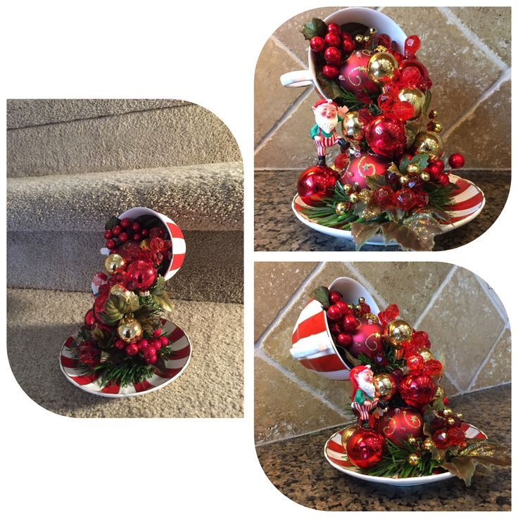 Christmas Floating Tea Cups.Floating Tea Cup Centerpiece Cups Chipped Teacups Cup
