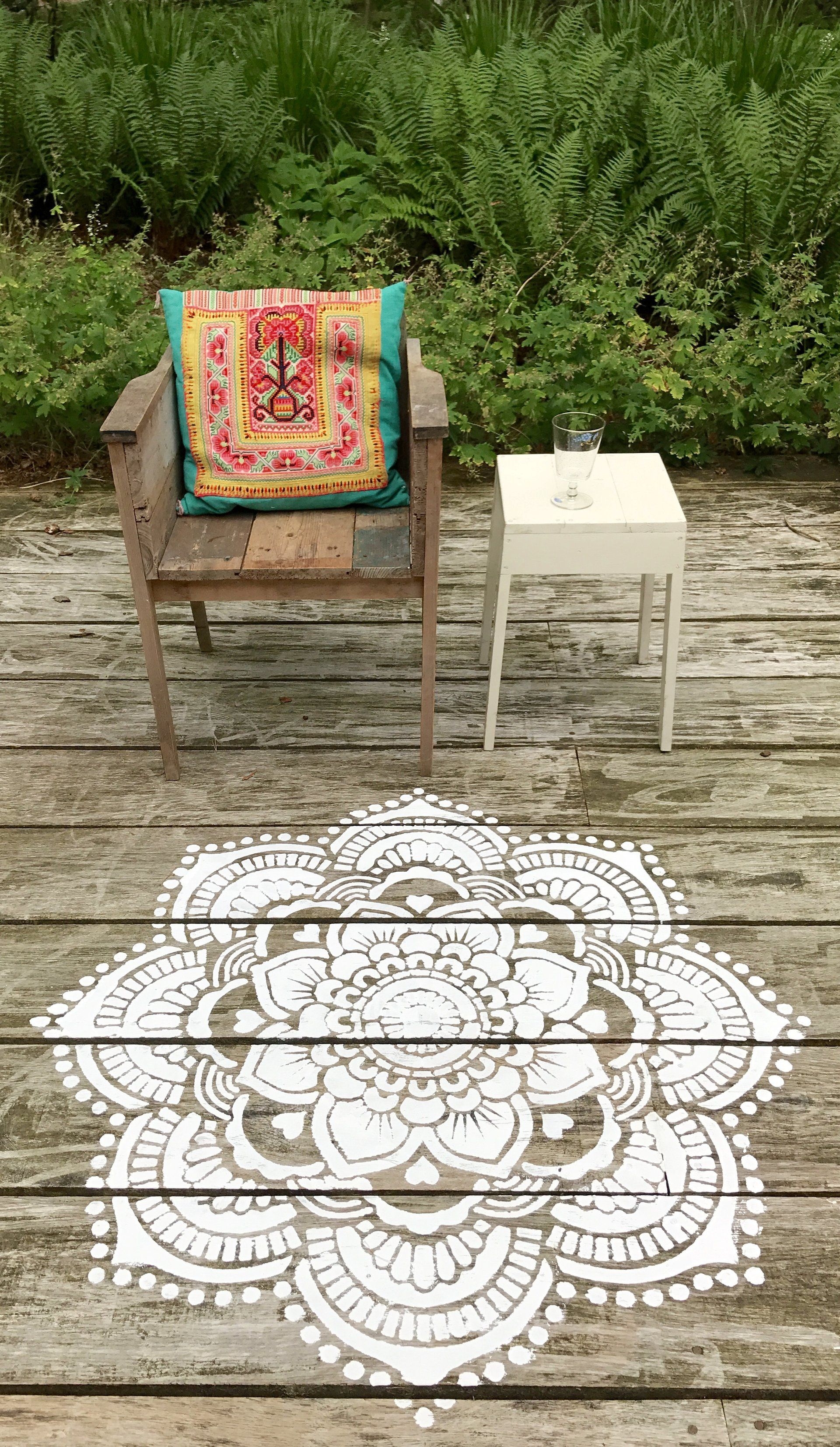 An Easy U0027do It Yourselfu0027 Fun Project To Decorate Your Backyard, A Mandala  Stencil Lets You Place Your Own Special Touch On Your Surroundings Simply  By Using ...