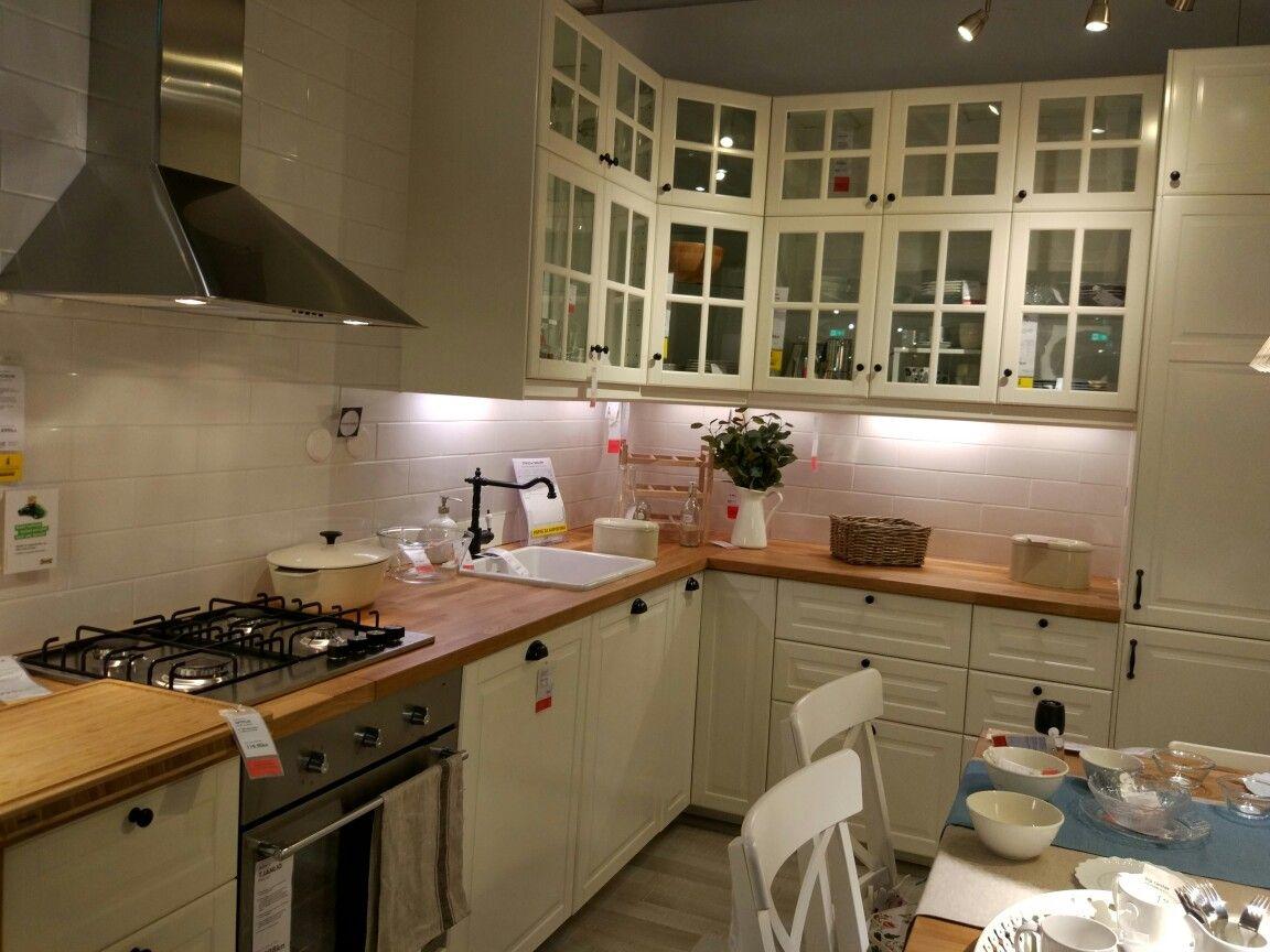 Küchenrückwand Ikea ~ Ikea bodbyn white kuhinja