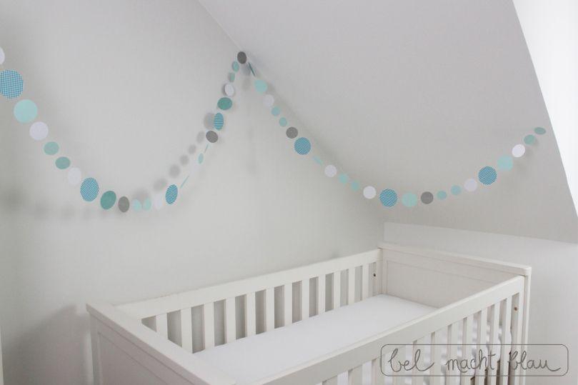 Eine Kreisgirlande basteln | Kreis girlande, Babyzimmer ...