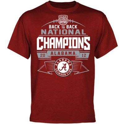 Alabama Crimson Tide 2012 BCS National Champions Back-to-Back Champions  Banners Edge T
