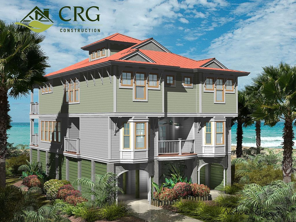 CRG Home Design custom oceanfront design and color rendering for an ...