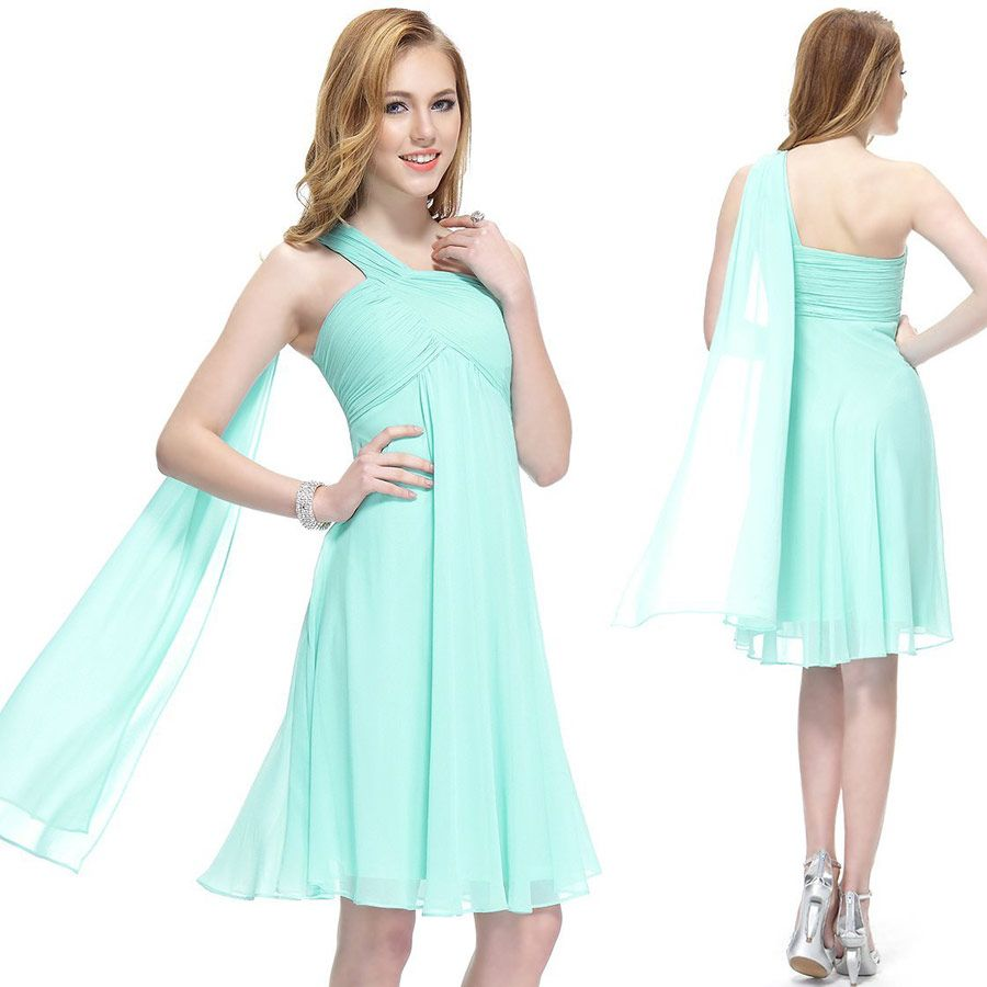 short bridesmaid dress, Mint green prom dress, high quality, dress ...