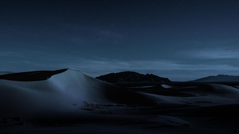 macOS Mojave, Night, Dunes, 4K (horizontal) Macbook pro