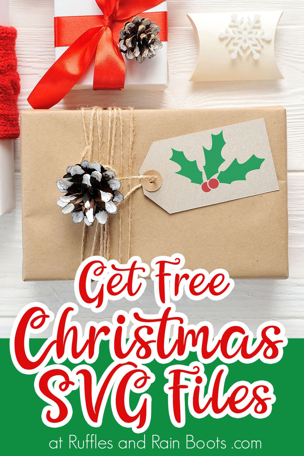 Make Personalized Gift Tags with this Free Holly Christmas
