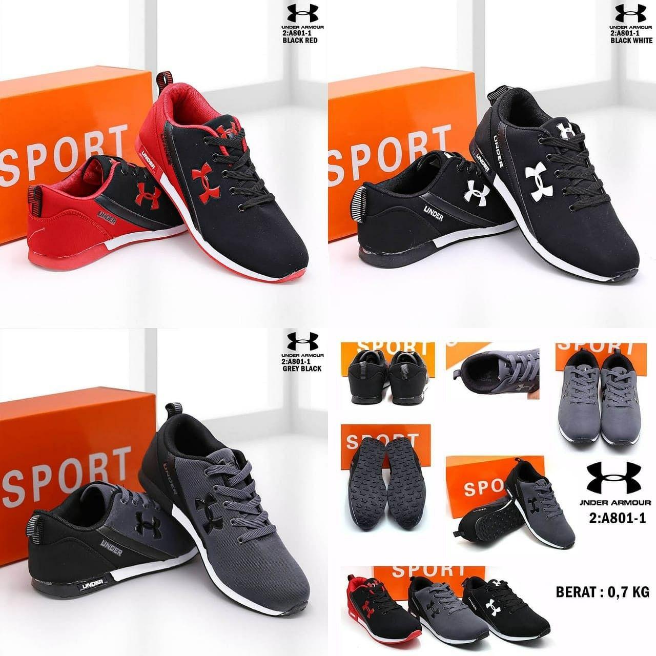 Sepatu Man Merek Under Armour Seri A801 1 Kualitas Semprem
