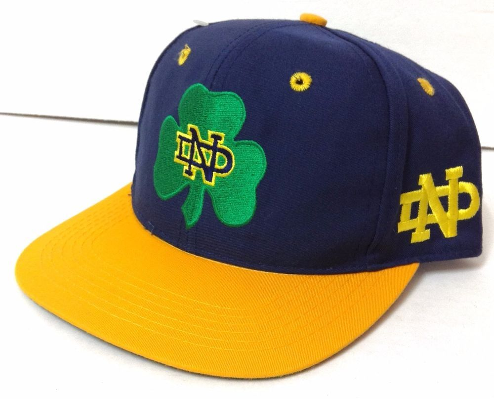6-7 8 Fitted(Youth) Vtg NOTRE DAME FIGHTING IRISH HAT The-Game Blue Green Yellow   TheGame  NotreDameFightingIrish 0e0192fed1ce