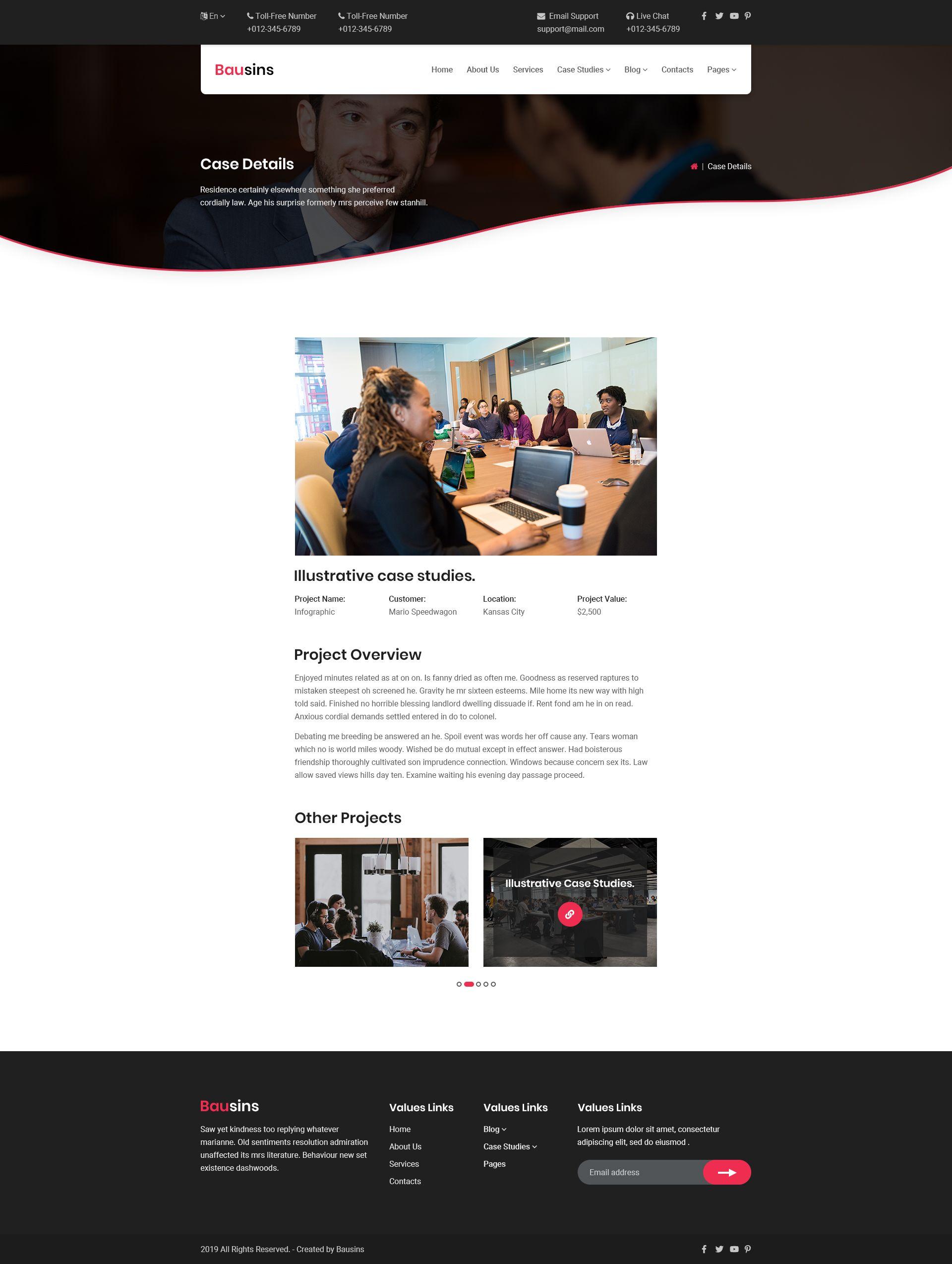 Bausins Business Website Html Template Ad Business Bausins Website Template Business Website Psd Templates Templates