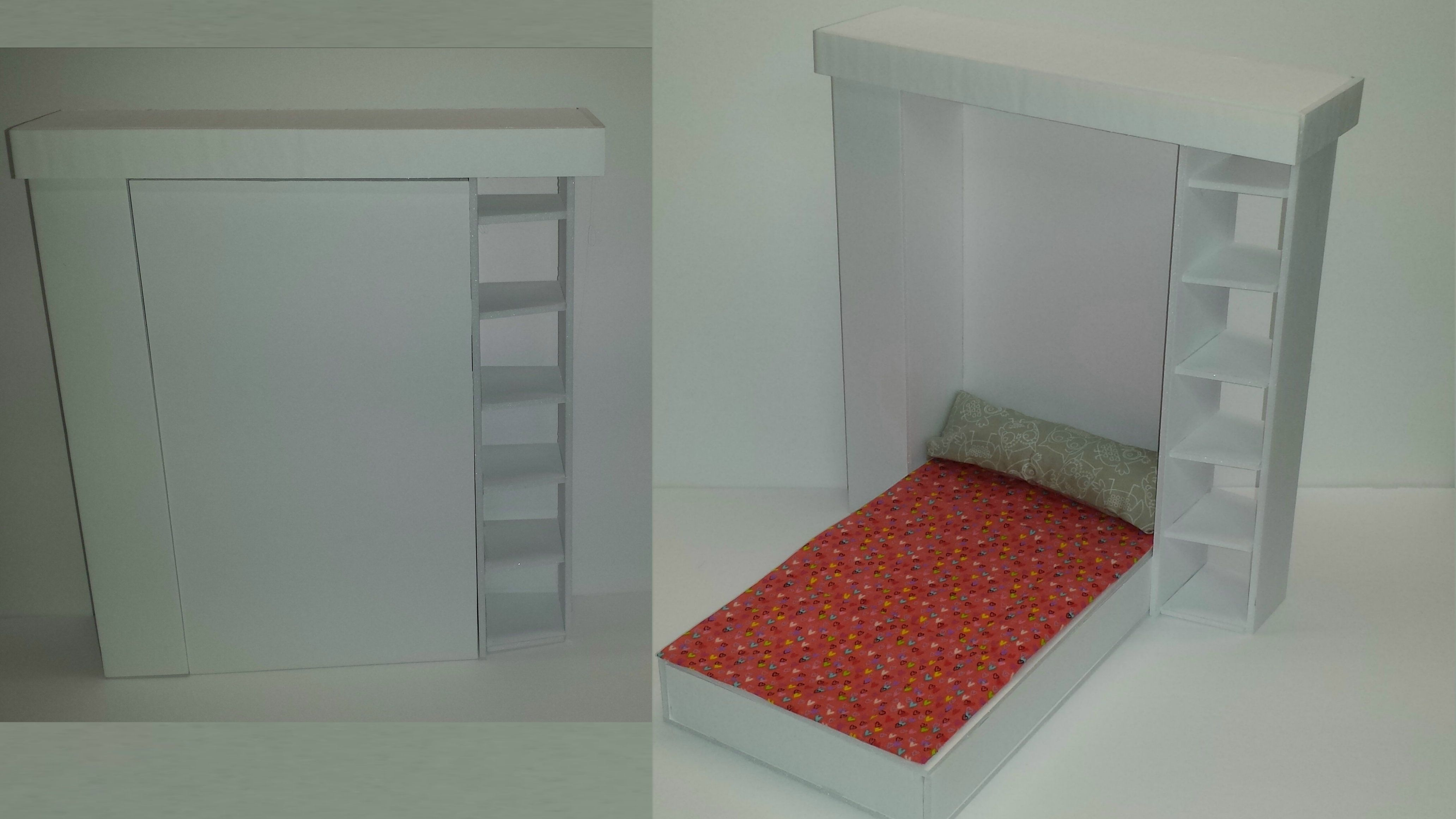 How To Make A Doll Murphy Bed Adhesive Board Doll House