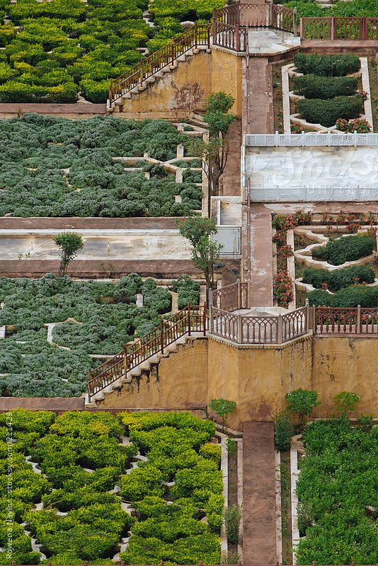 Islamic Garden Design At Ambre Fort Jaipur By Rowenanaylor