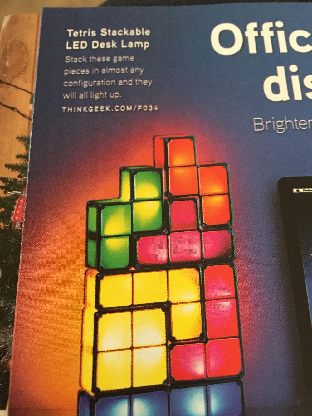 Tetris Desk Lamp Game Pieces Tetris Rubiks Cube