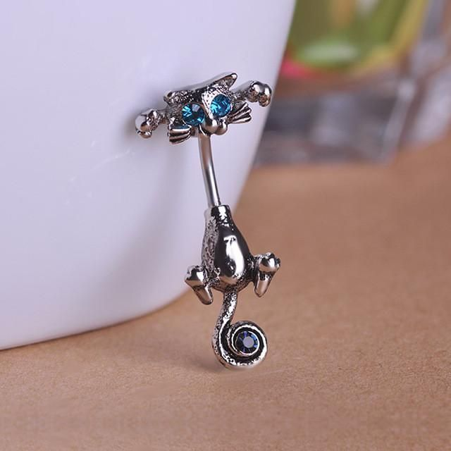 New Style Navel Ring High Quality 316L Surgical Steel Piercing Belly Button Rings Beautiful Cat Navel Piercing Sex Body Jewelry