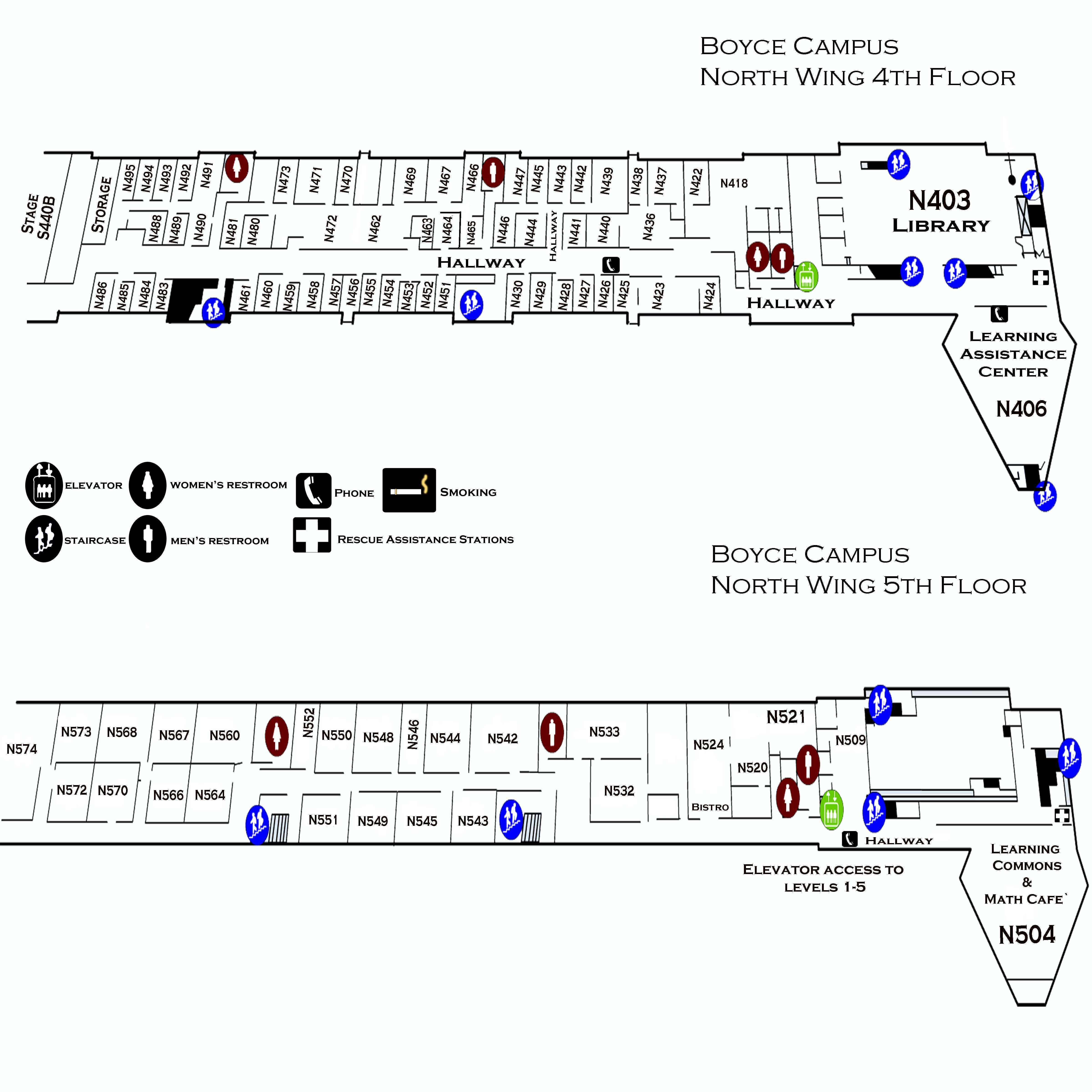 Boyce Campus North Wing 4th 5th Floor Ccac Boyce Campus Maps