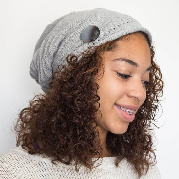 Beanie for Natural Hair Satin Lined Beanie Gift for by TagMeTrendy ... 8114b562944