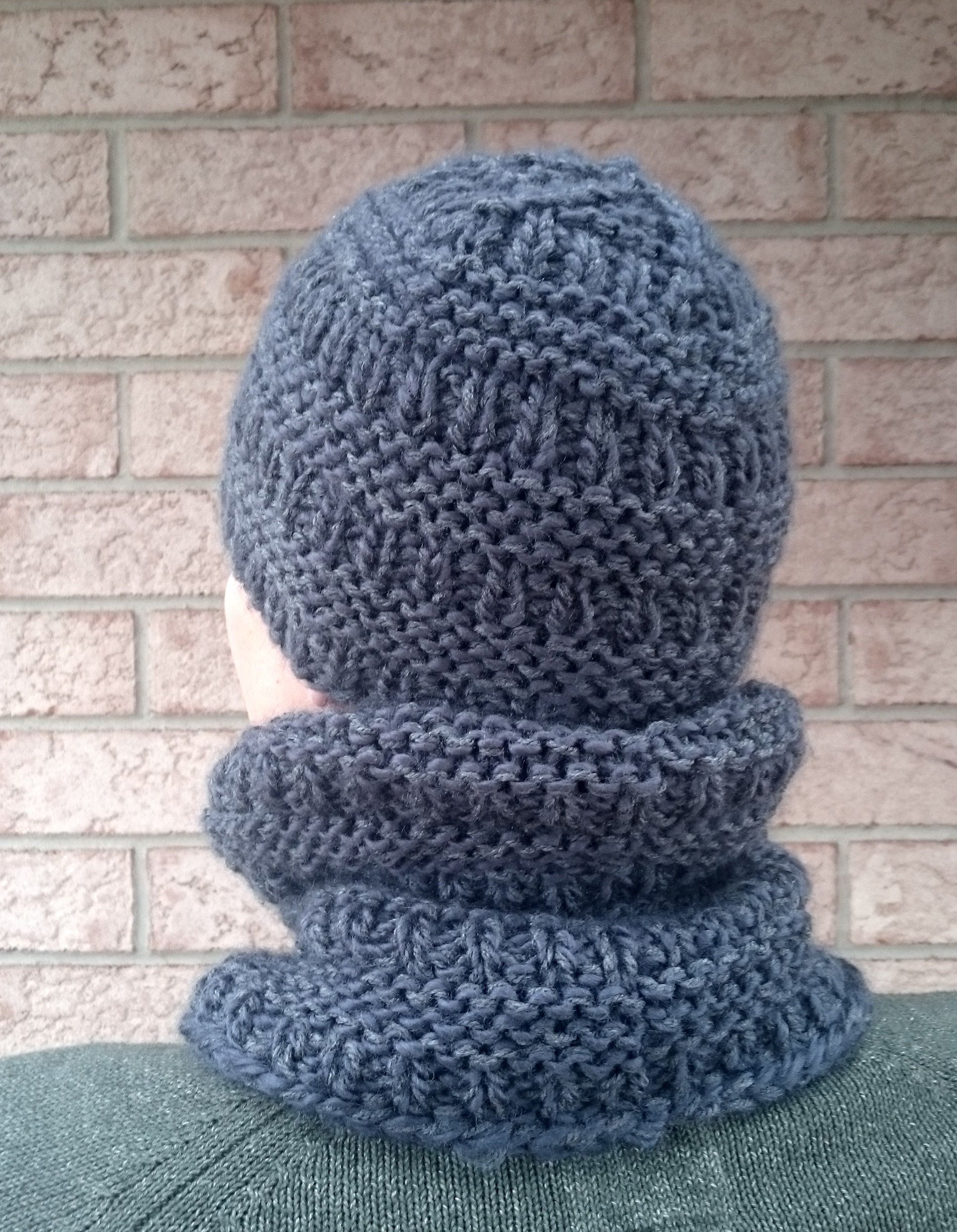Knitting PATTERN - Katniss Hat and Cowl, Chunky Knit Head ...