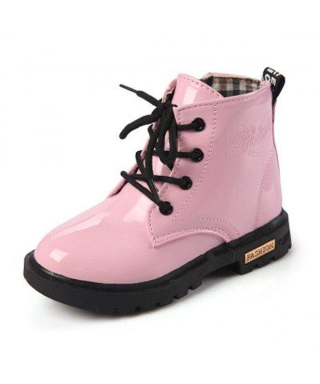 Kids Boys Girls Waterproof Side Zipper Lace Up Ankle Rain