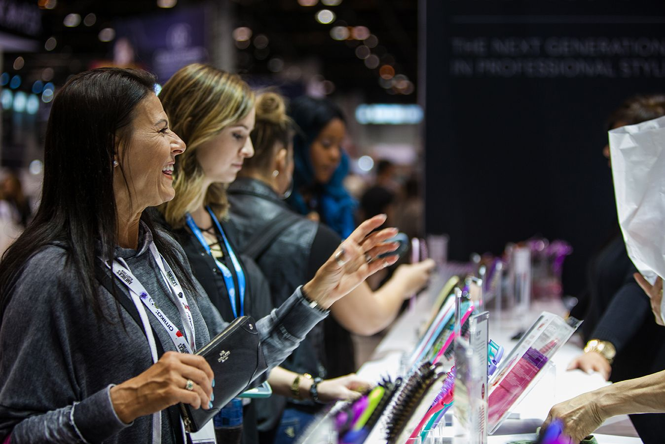 Attendees shopping at Wet Brush ABS 2018! Abs, Wet