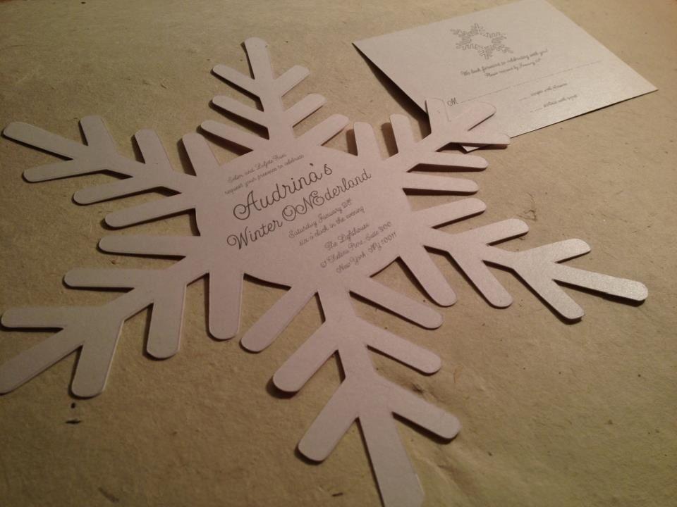 die cut snowflake invitation by purple snowflake design www facebook