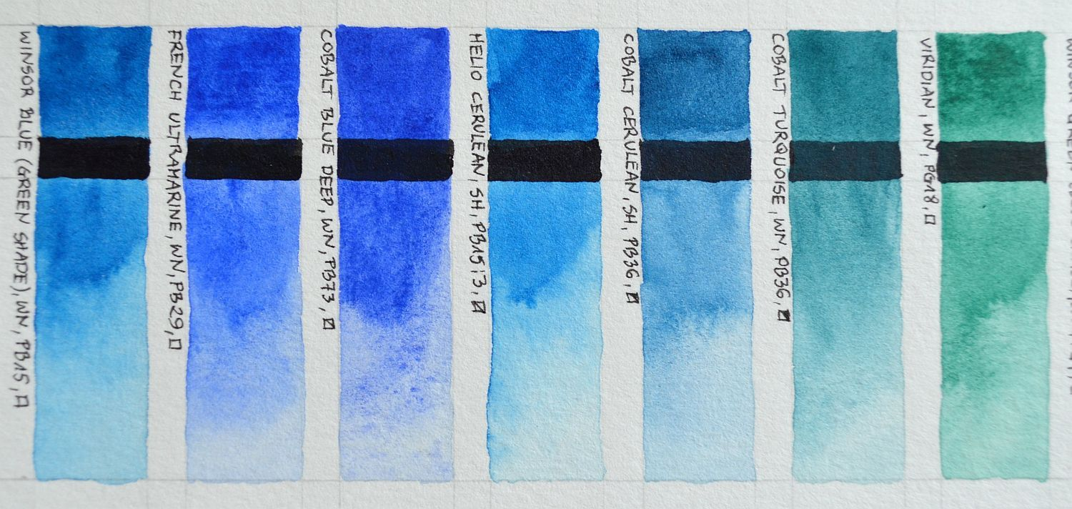 Color Chart Of Winsor Newton Professional And Schmincke Horadam