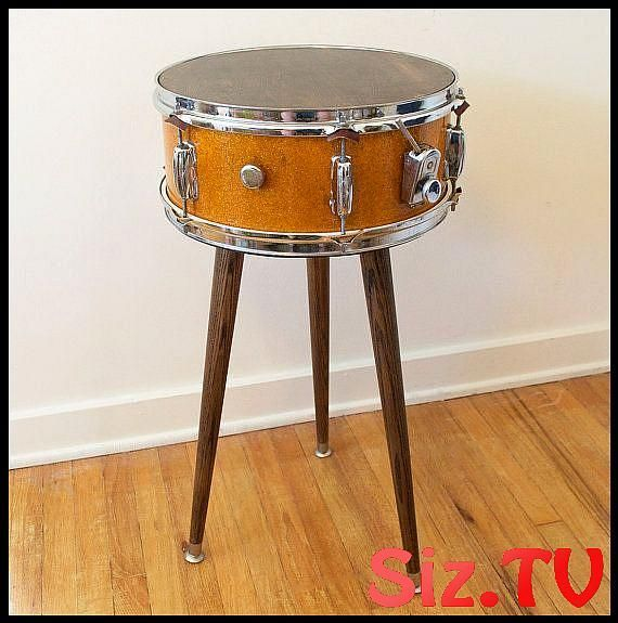 Century Modern Inspired Vintage Snare Drum Table Mid Century Modern Inspired Vintage Snare Drum Table With This One Of A Kind Vintage Drum Side Table We Ve Married Our Love Of Music With Our Love Of Sleek Mid Century Modern Furniture The Features Of This Unique Design Include A Vintage 1960s Made In JapanMid Century Modern Inspired Vintage Snare D...