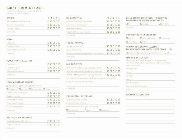 Restaurant Comment Cards Template New Ment Card Template 27 Free Printable Wor Free Business Card Templates Card Templates Printable Templates Printable Free