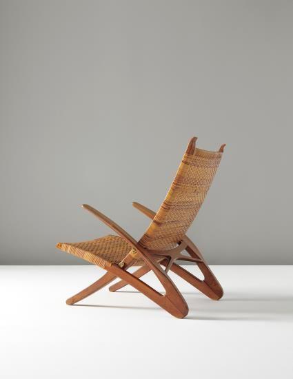 Danish / Nordic Design Hans J. Wegner Rare 'Dolphin' folding armchair, model no. JH510, 1950