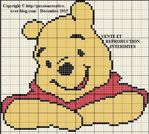 Grille gratuite point de croix : Winnie l'ourson 4   Baby Style 2   Pinterest   Creative