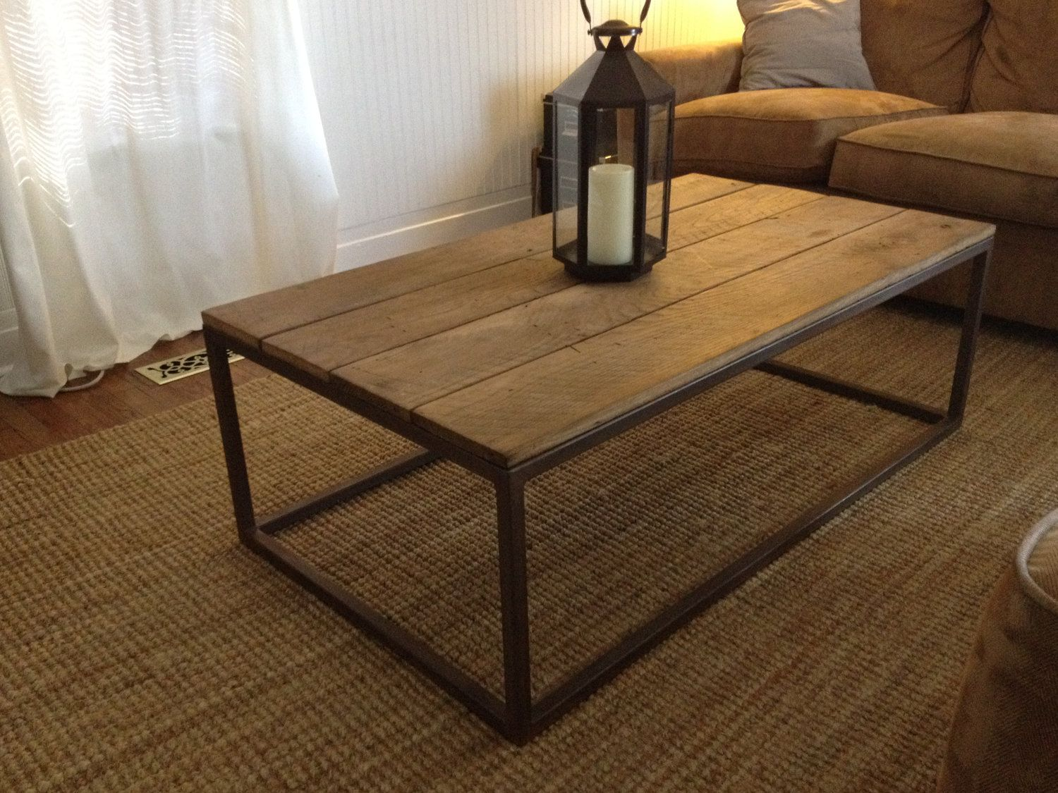 Pin by jen garner on decor pinterest industrial style coffee love this metal welded coffee table with wood top that im seeing everywhere geotapseo Image collections