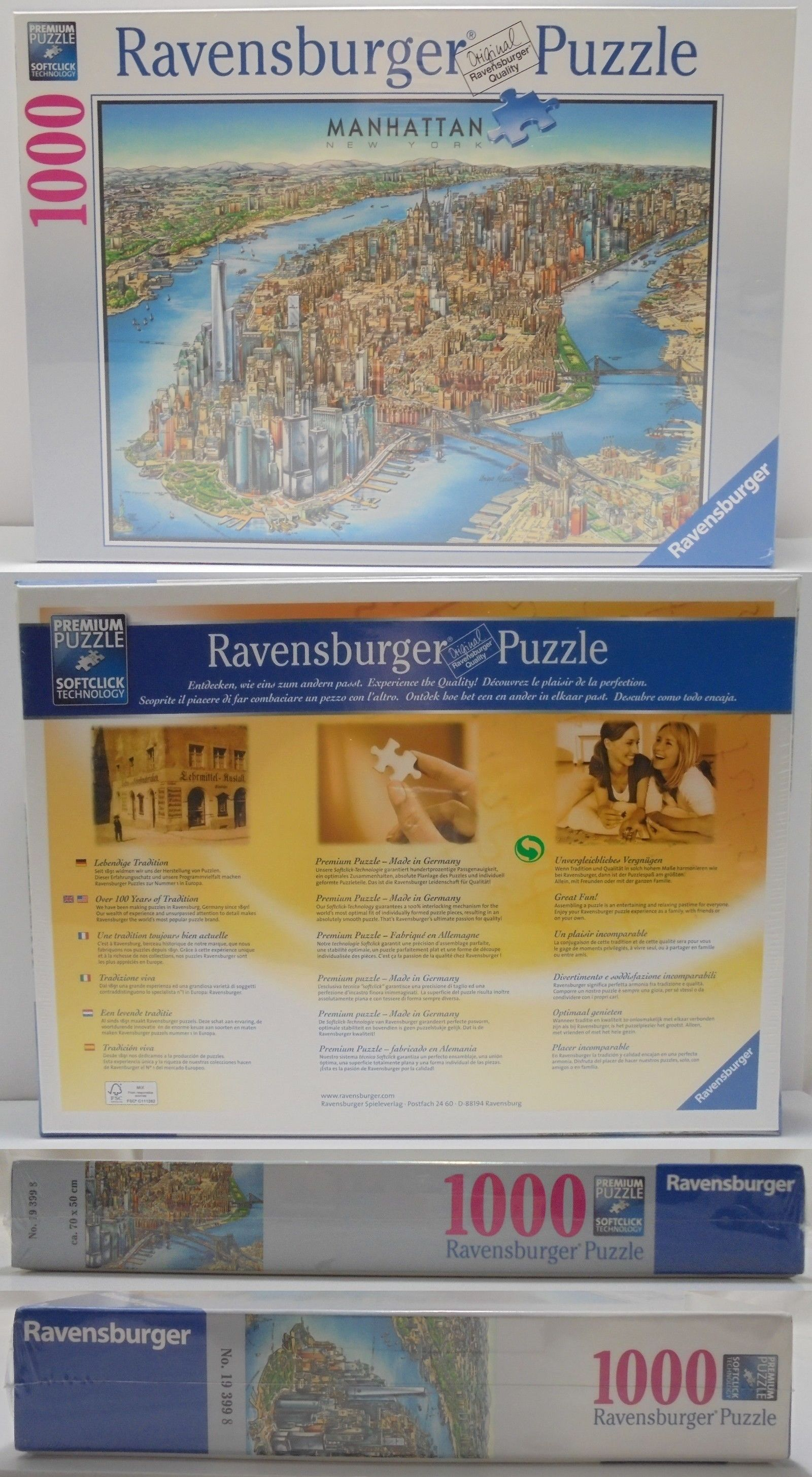 Jigsaw 19183 Ravensburger Manhattan New York Map