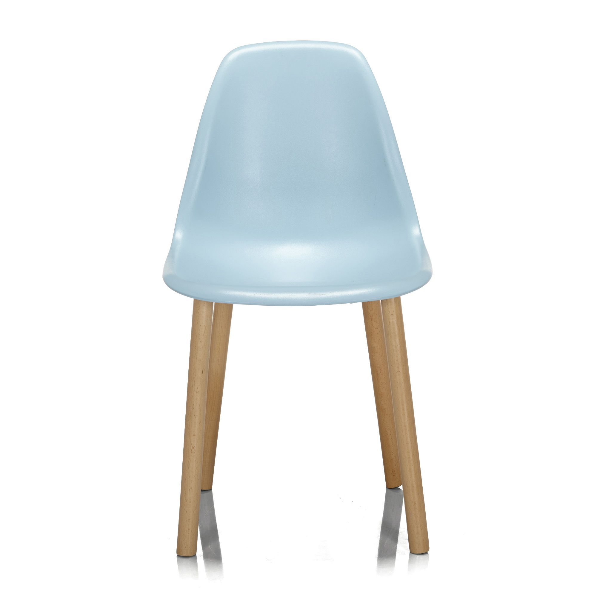 Chaise bleue avec pi tement en bois design scandinave bleu hop les chaise - Chaises scandinaves bois ...