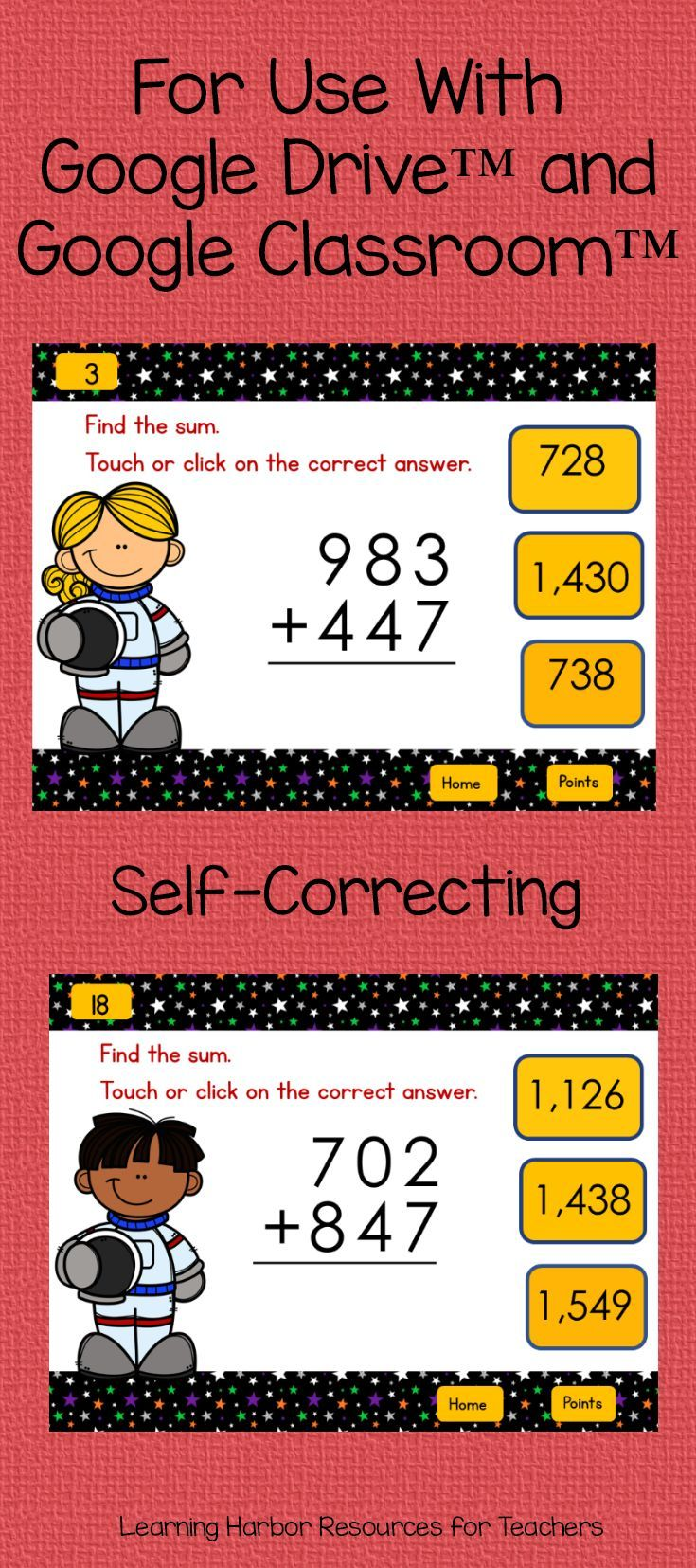 Distance Learning Math Adding 3 Numbers For Google Classroom Learning Math Math Teaching Addition How to teach three digit addition with