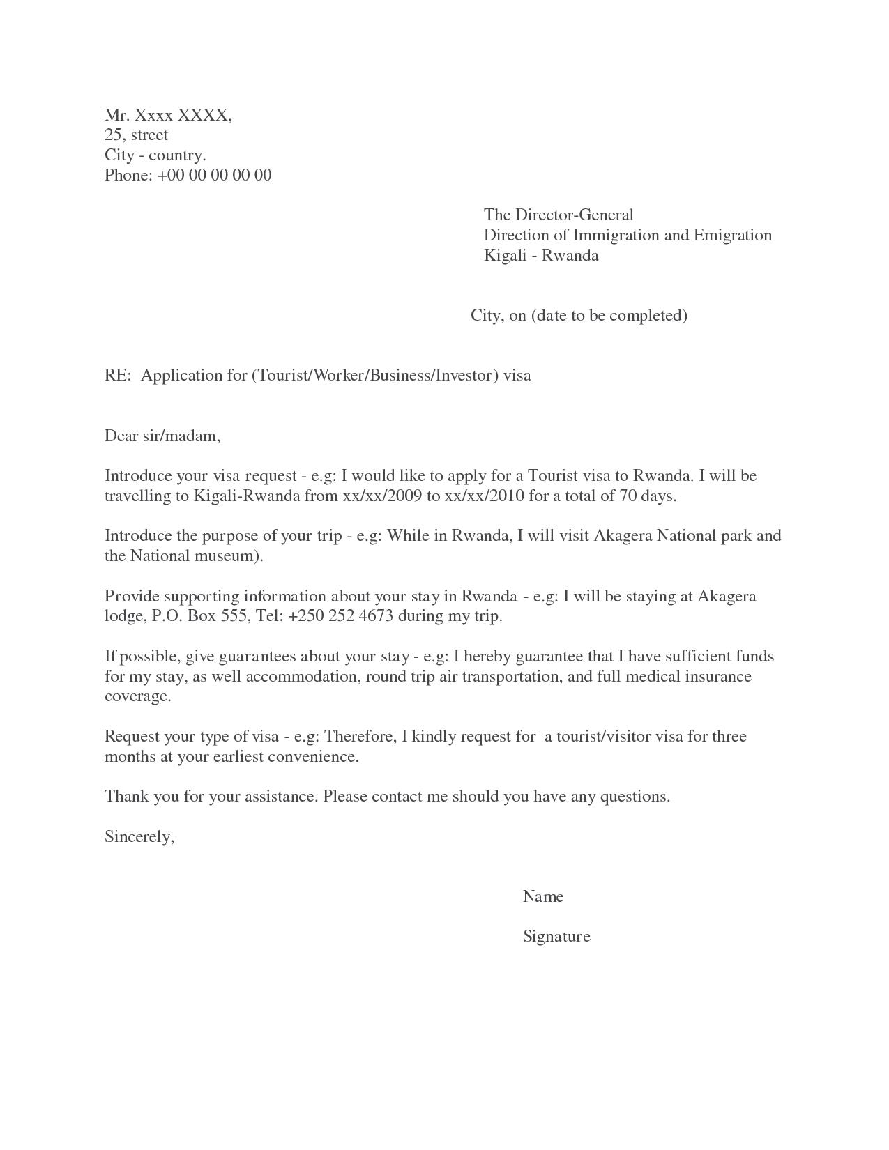 Sample B Visa Invitation Letter ImmihelpVisa Application