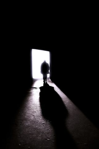 Lonely Walking Out The Door Iphone Wallpaper Download People