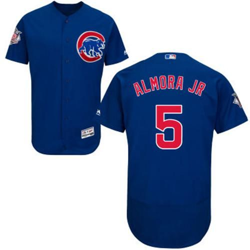 f4e14e2dd2e Cubs  5 Albert Almora Jr. Blue Flexbase Authentic Collection Stitched MLB  Jersey