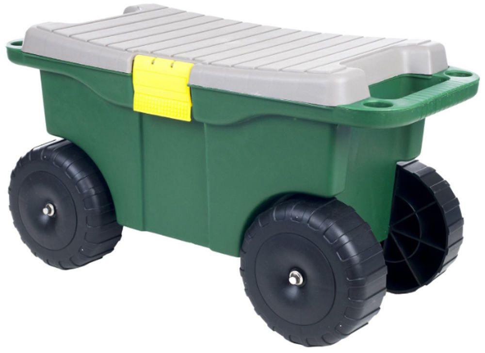 Perfect Garden Cart Rolling Portable Seat Utility Lawn Yard Wheels Outdoor Gardening  New #PureGarden