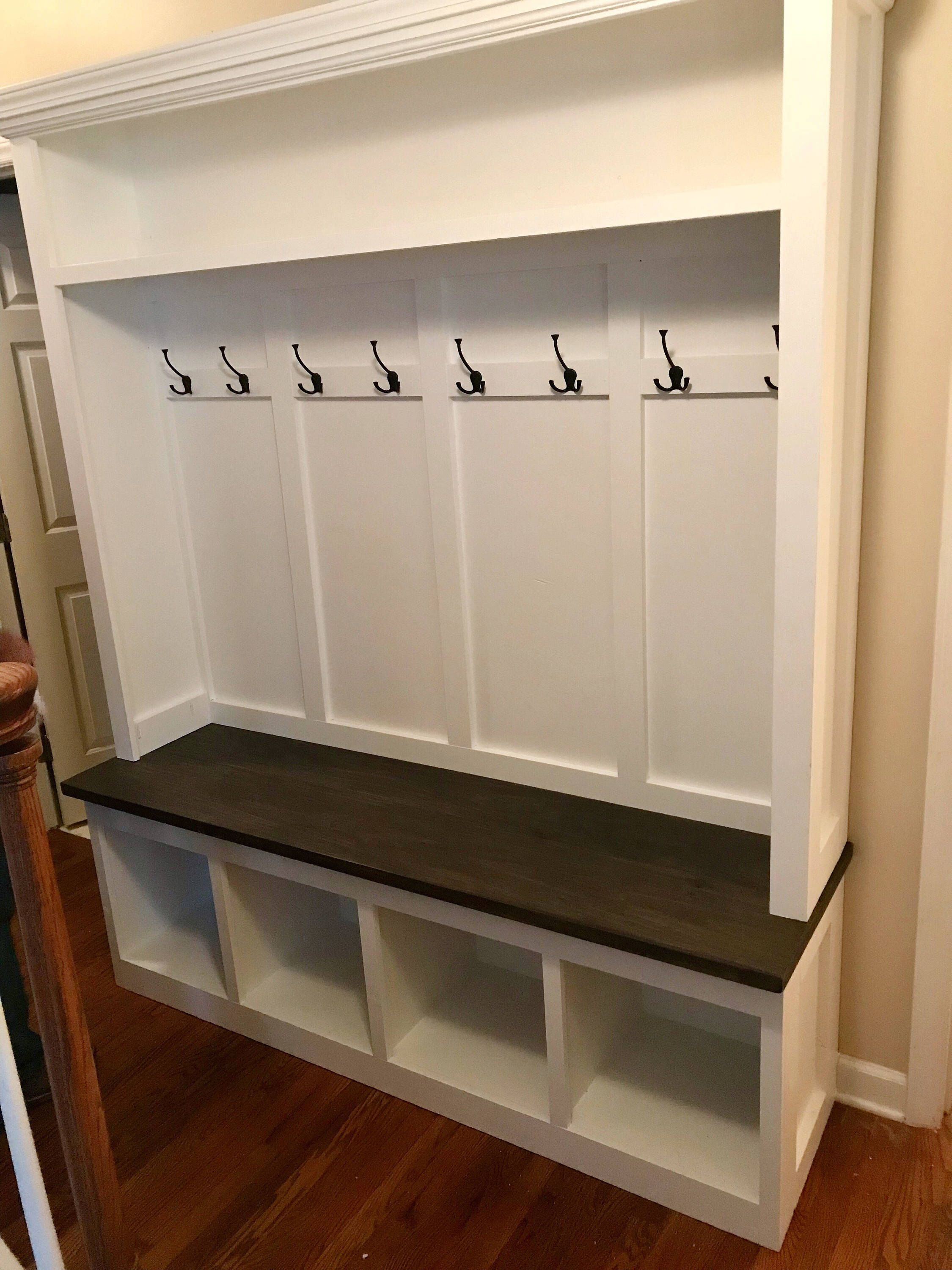 Custom Hall Tree Mudroom Bench Coat Rack Entryway Storage by ...
