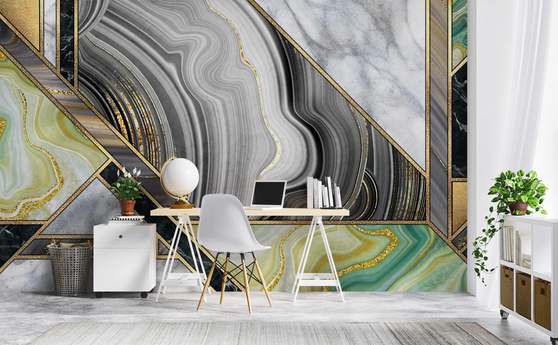 The Waldorf Wall Murals Mosaic Wallpaper Wall Deco