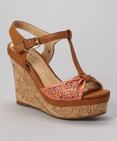 Love this Coral Kolada Wedge Sandal by Bucco on #zulily! #zulilyfinds